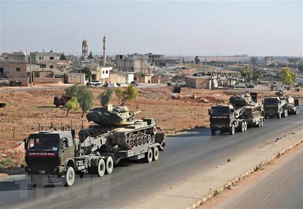 Chinh phu Syria len an Tho Nhi Ky dua doan xe quan su toi tinh Idlib hinh anh 1