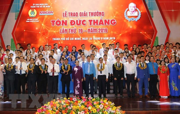 Trao giai thuong Ton Duc Thang cho 10 cong nhan, ky su tieu bieu hinh anh 1