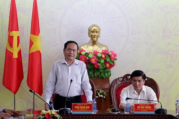 Chu tich Uy ban Trung uong MTTQ Viet Nam tham dong bao bi lu lut hinh anh 1