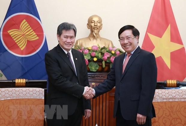 Pho Thu tuong, Bo truong Pham Binh Minh tiep Tong Thu ky ASEAN hinh anh 1