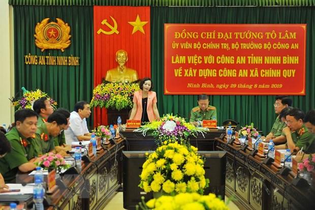 Bo truong To Lam: Nang cao hieu qua cua cong an xa chinh quy tai co so hinh anh 1