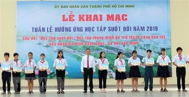 Thanh pho Ho Chi Minh: Khai mac Tuan le huong ung hoc tap suot doi hinh anh 1