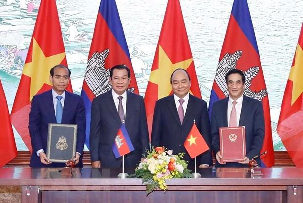 Tuyen bo chung giua Cong hoa XHCN Viet Nam va Vuong quoc Campuchia hinh anh 2