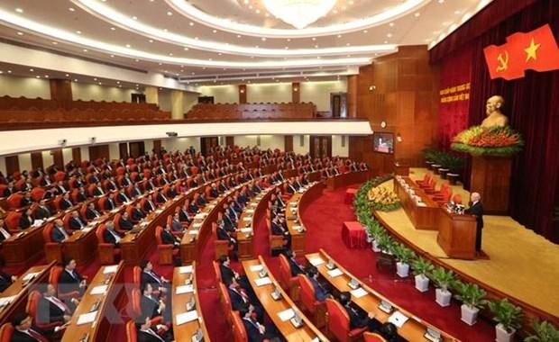 Quang cảnh một ngày làm việc của Hội nghị Trung ương. Nguồn: TTXVN