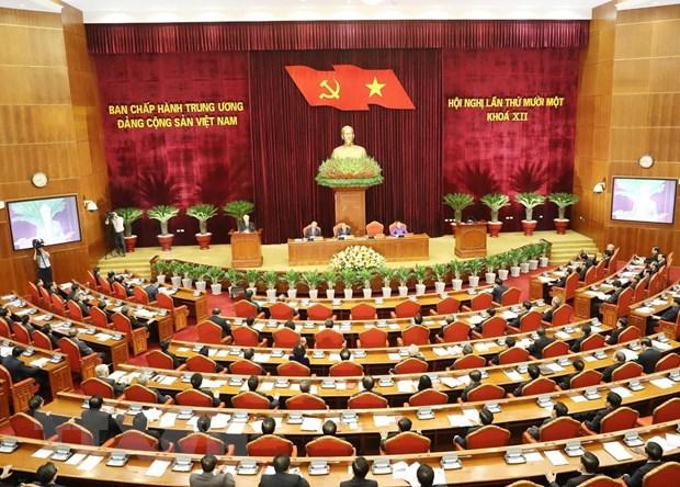 Khai mac Hoi nghi lan thu 11 Ban Chap hanh Trung uong Dang khoa XII hinh anh 1