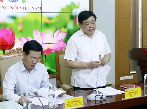 Ong Vo Van Thuong lam viec voi VOV ve cong tac phong chong tham nhung hinh anh 2