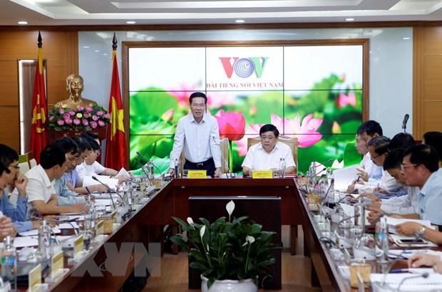 Ong Vo Van Thuong lam viec voi VOV ve cong tac phong chong tham nhung hinh anh 1