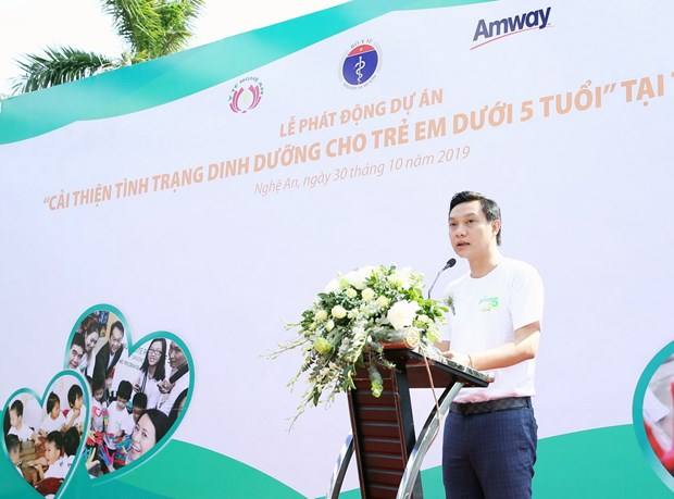 Amway kien dinh muc tieu dong hanh vi tre em suy dinh duong Viet Nam hinh anh 1