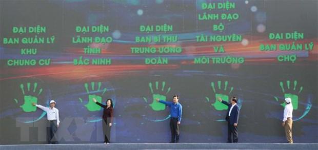 Ngay hoi 'Thanh nien hanh dong chong rac thai nhua' tai Bac Ninh hinh anh 2