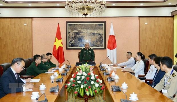 Thuc day cac hoat dong hop tac quoc phong giua Viet Nam va Nhat Ban hinh anh 1