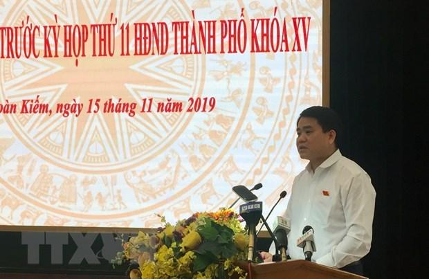 Chu tich Ha Noi: Khong co loi ich nhom trong du an nuoc song Duong hinh anh 1