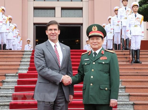 Bo truong Bo Quoc phong Hoa Ky Mark Esper tham chinh thuc Viet Nam hinh anh 1