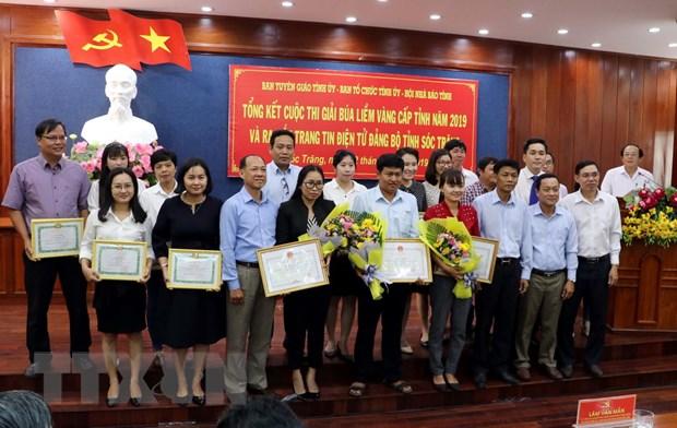 Ra mat trang tin Dang bo Soc Trang, trao giai Bua liem vang cap tinh hinh anh 1