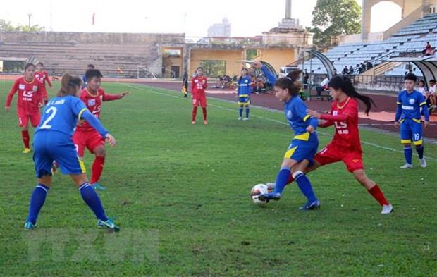 Khai mac Giai bong da nu vo dich U19 quoc gia nam 2019 tai Ha Nam hinh anh 1