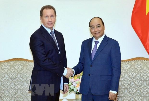 Thu tuong Nguyen Xuan Phuc tiep Giam doc Co quan Ve binh quoc gia Nga hinh anh 1
