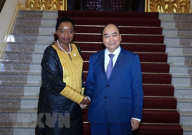 Thu tuong Nguyen Xuan Phuc tiep Bo truong Ngoai giao Cong hoa Kenya hinh anh 1