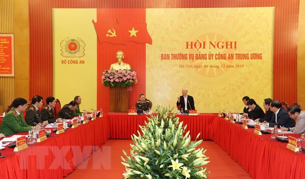 Tong Bi thu, Chu tich nuoc chi ra 10 ket qua lon cua cong an nhan dan hinh anh 1