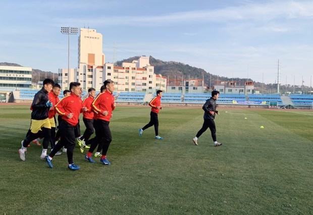 Doi tuyen U23 Viet Nam cham chi tap luyen o mien Nam Han Quoc hinh anh 1