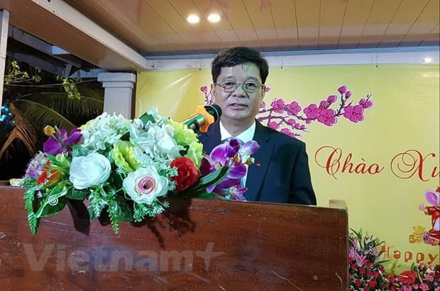Tong lanh su quan Viet Nam tai Preah Sihanouk to chuc tiec mung Xuan hinh anh 2