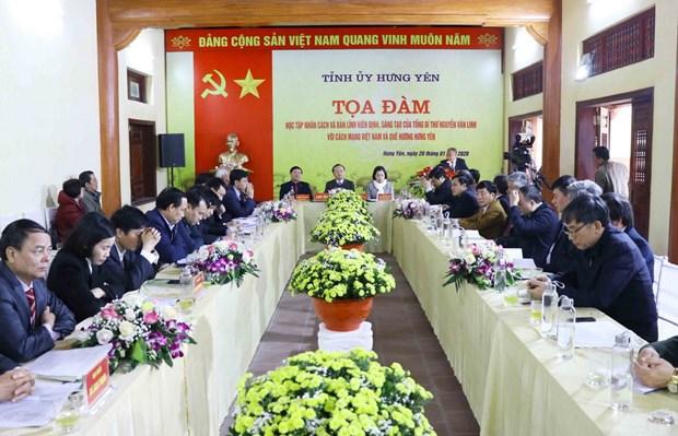 Tong Bi thu Nguyen Van Linh voi cach mang va que huong Hung Yen hinh anh 1