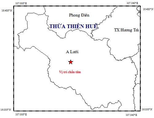 Thua Thien- Hue: Xay ra dong dat co do lon 2,4 tai huyen A Luoi hinh anh 1