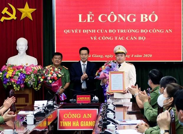 Dai ta Phan Huy Ngoc giu chuc Giam doc Cong an tinh Ha Giang hinh anh 1