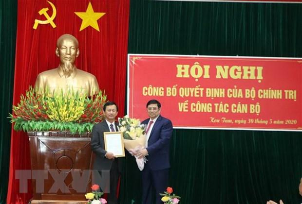 Ong Pham Minh Chinh lam viec voi Ban Thuong vu Tinh uy Kon Tum hinh anh 2