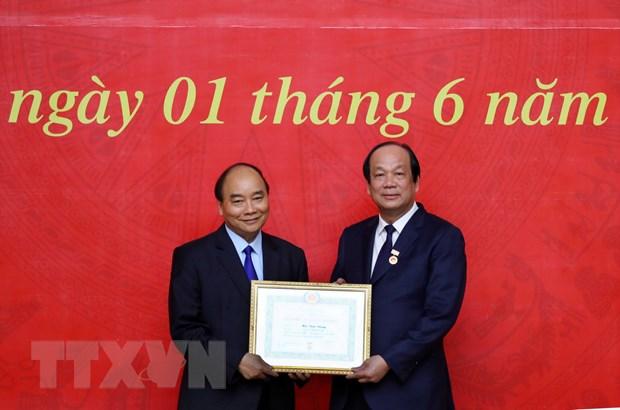 Thu tuong du le trao Huy hieu Dang tai Dang bo Van phong Chinh phu hinh anh 1