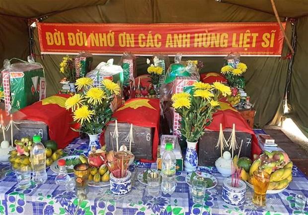 Quang Tri: Cat boc 19 hai cot liet sy tai Cam Lo va Huong Hoa hinh anh 1