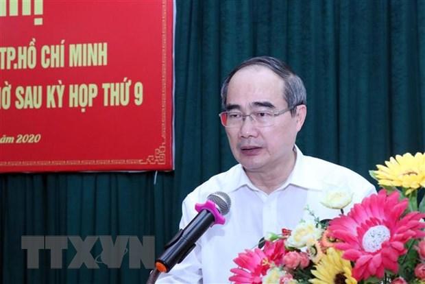 Bi thu Thanh uy Thanh pho Ho Chi Minh tiep xuc cu tri huyen Can Gio hinh anh 1