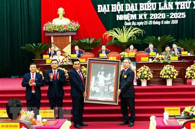 Ha Giang: Khai mac Dai hoi dai bieu Dang bo huyen Quan Ba hinh anh 1