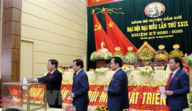 Phu Tho rut kinh nghiem sau Dai hoi Dang bo huyen diem dau tien hinh anh 1