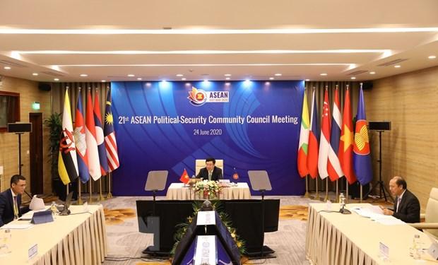Trao doi bien phap tang cuong hon nua hop tac chinh tri-an ninh ASEAN hinh anh 1