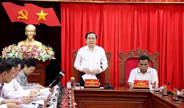 Doan Ban Bi thu TW Dang lam viec voi Ban Thuong vu Tinh uy Gia Lai hinh anh 1