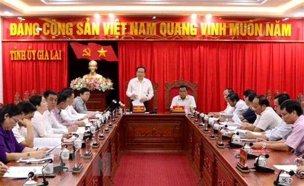 Doan Ban Bi thu TW Dang lam viec voi Ban Thuong vu Tinh uy Gia Lai hinh anh 2