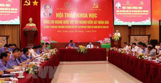 Hoi thao khoa hoc 'Dong chi Hoang Quoc Viet voi nganh kiem sat' hinh anh 1