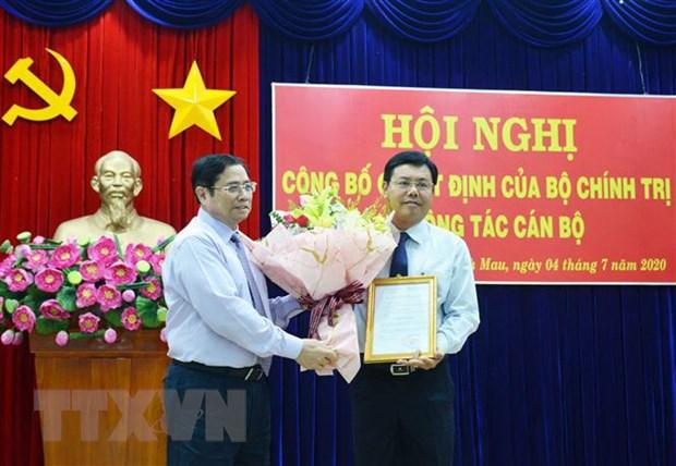 Bo Chinh tri chuan y ong Nguyen Tien Hai lam Bi thu Tinh uy Ca Mau hinh anh 1