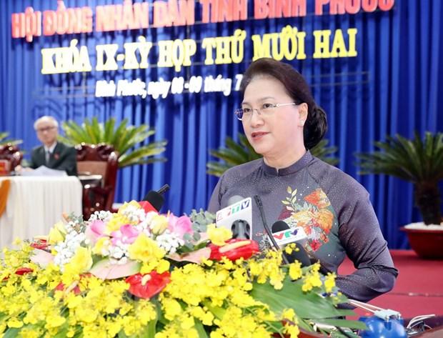 Chu tich Quoc hoi du ky hop Hoi dong Nhan dan tinh Binh Phuoc hinh anh 1