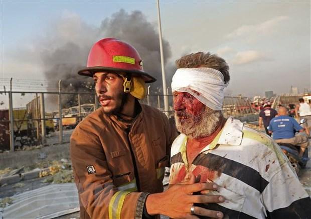 Liban: Tinh hinh y te nghiem trong sau vu no kinh hoang tai Beirut hinh anh 1