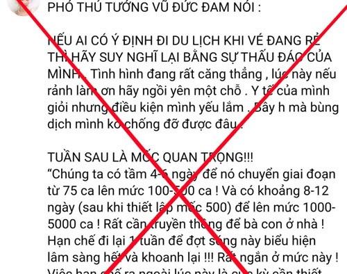 Xu phat cac truong hop thong tin sai su that tren mang xa hoi hinh anh 1