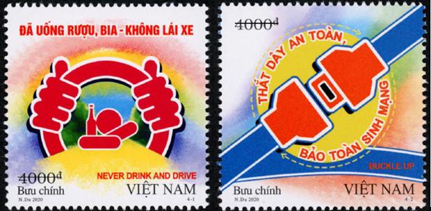 Phat hanh bo tem truyen tai thong diep ve an toan giao thong hinh anh 1