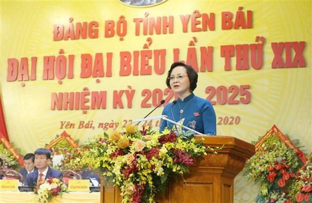 Ong Tran Quoc Vuong du khai mac Dai hoi Dang bo tinh Yen Bai hinh anh 1