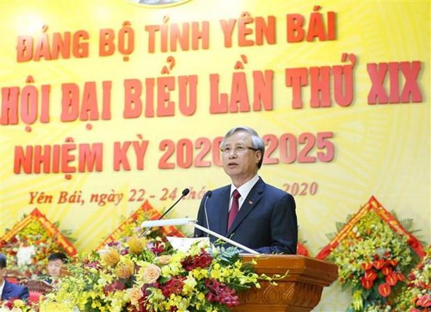 Ong Tran Quoc Vuong du khai mac Dai hoi Dang bo tinh Yen Bai hinh anh 2