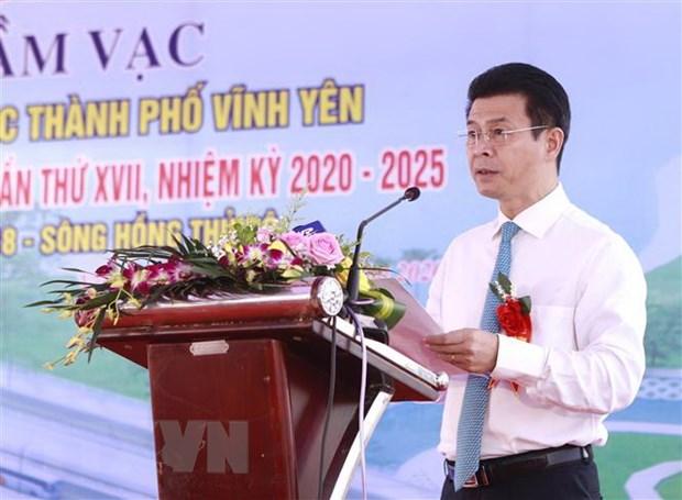 Vinh Phuc: Khoi cong xay cau Dam Vac voi tong von dau tu 612 ty dong hinh anh 1
