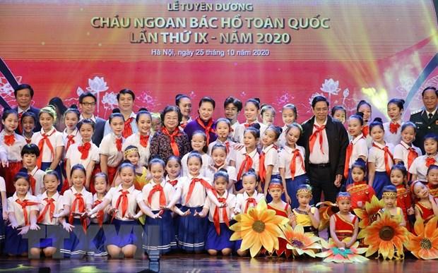 Dai hoi Chau ngoan Bac Ho: Nhung bong hoa nho hoc gioi, nhieu tai le hinh anh 1