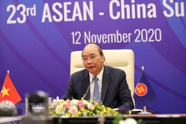Thu tuong Nguyen Xuan Phuc chu tri Hoi nghi Cap cao ASEAN-Trung Quoc hinh anh 1