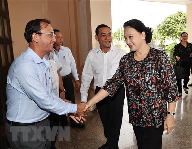 Chu tich Quoc hoi Nguyen Thi Kim Ngan tiep xuc cu tri huyen Phong Dien hinh anh 2