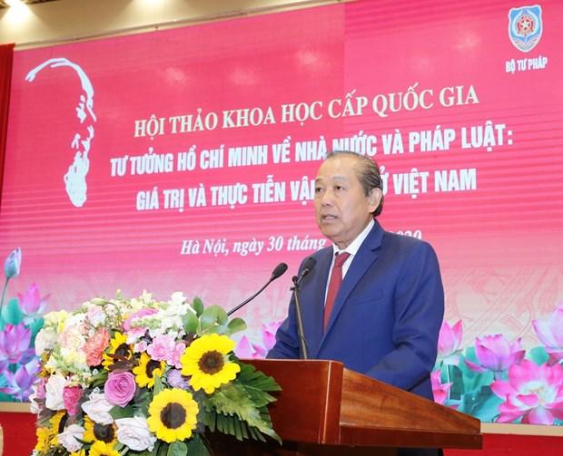 Van dung sang tao tu tuong Ho Chi Minh de xay dung Nha nuoc phap quyen hinh anh 1