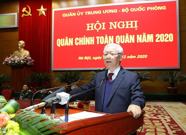 Tong Bi thu, Chu tich nuoc: Quan doi khong duoc chu quan, thoa man hinh anh 1