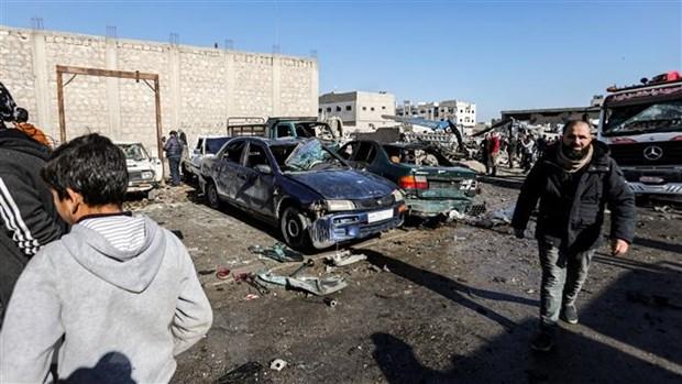 Danh bom xe o khu vuc Tay Bac Syria khien nhieu nguoi thuong vong hinh anh 1